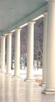 Greek revival porch columns