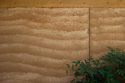 Rammed earth wall, NM