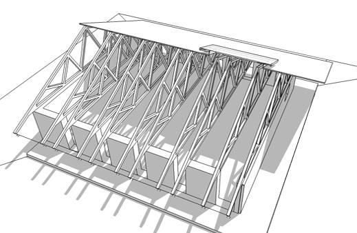 Mesa project - movement pavillion - comupter model