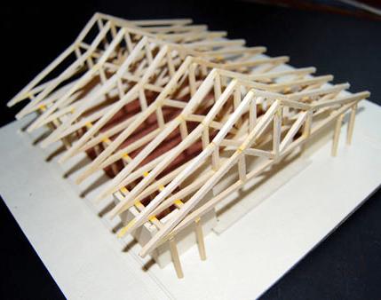 Mesa project - movement pavillion model building 3