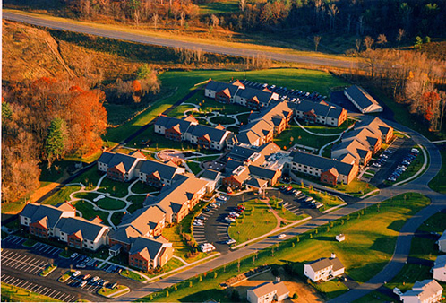 The Beverwyk - independent senior living - aerial view