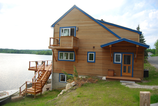 Re-build on Laurel lake side view